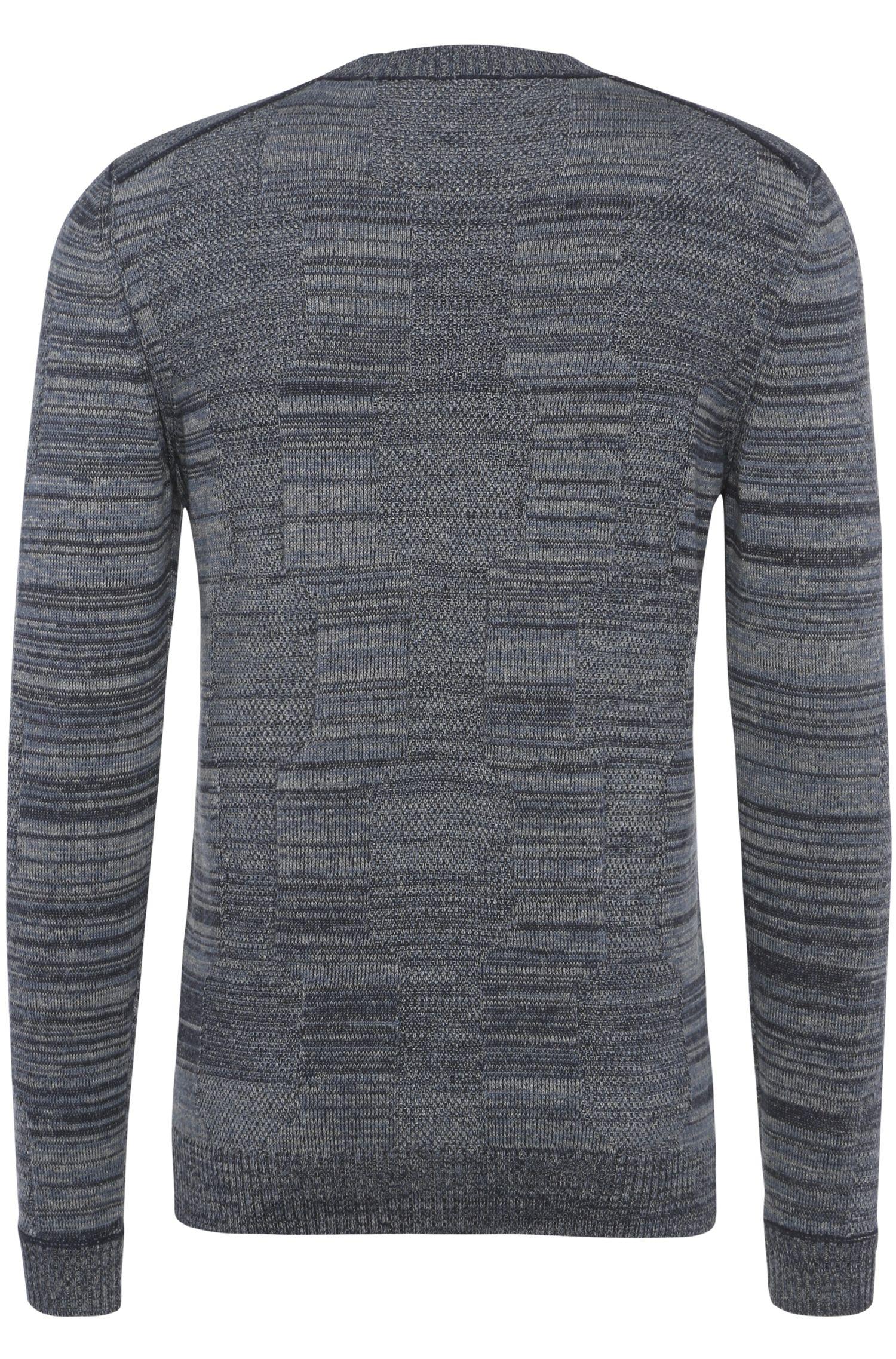 Melierter Slim-Fit Pullover aus Baumwoll-Mix mit Seide: ´Akolar`