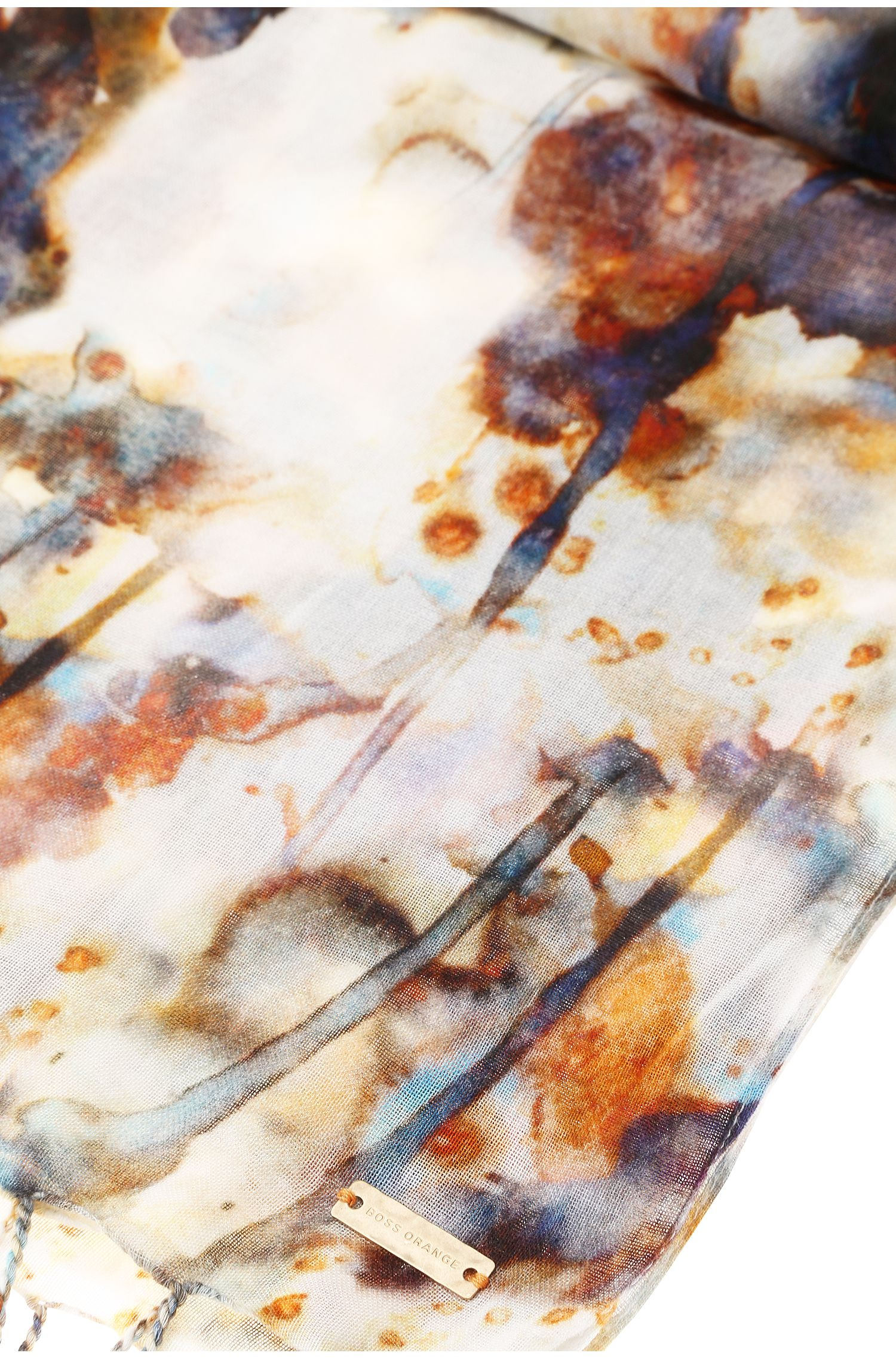 Gemusterter Schal aus Baumwoll-Mix: ´Nadina`