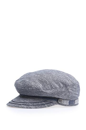 Maritim-inspirierte Mütze aus Baumwoll-Canvas: ´Falexa`, Dunkelblau