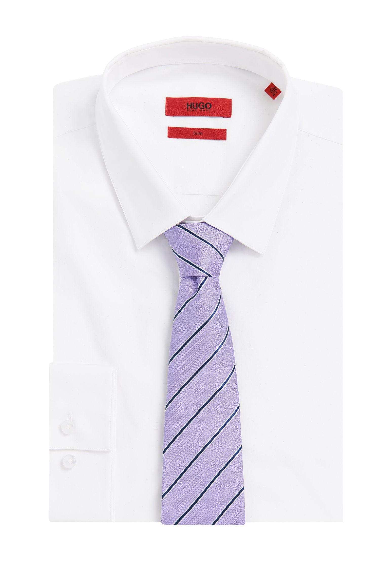 Gestreepte zijden stropdas: 'Tie 7 cm'