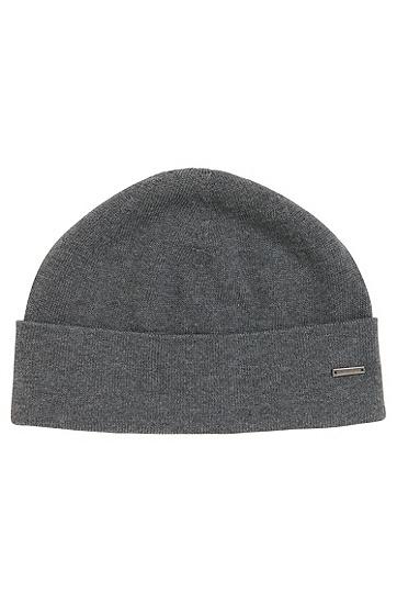 Unifarbene Mütze aus Baumwolle: 'Hiraldo', Grau