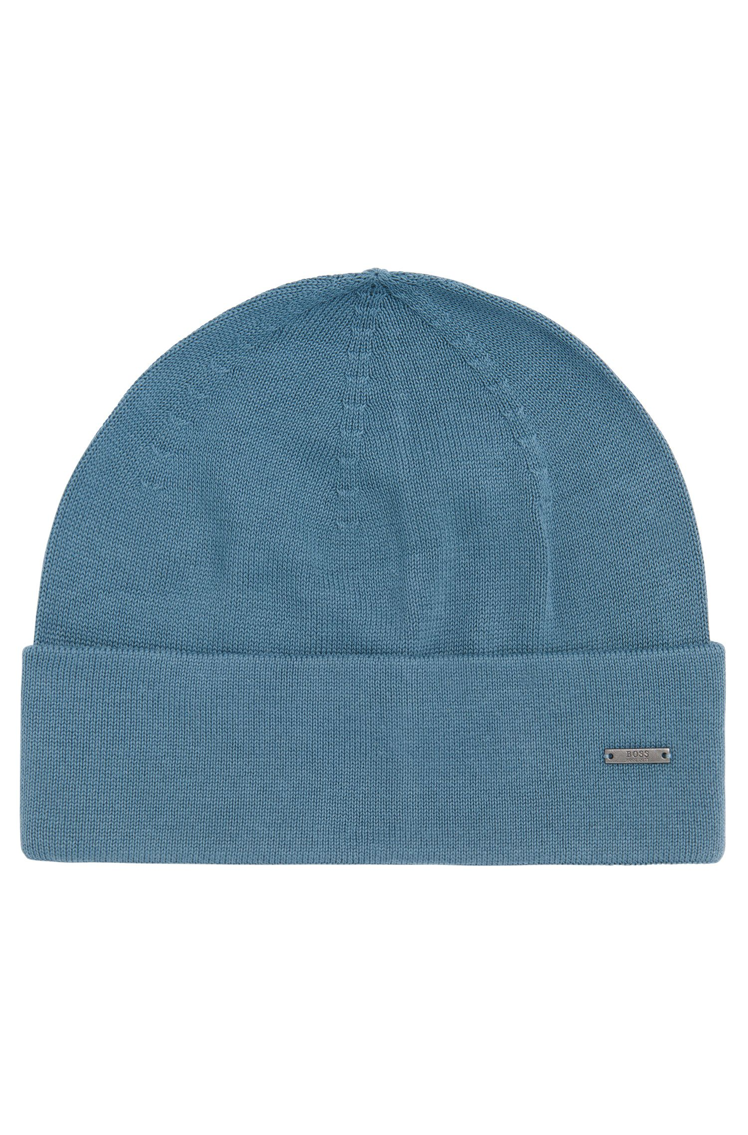 Plain-coloured hat in cotton: 'Hiraldo'