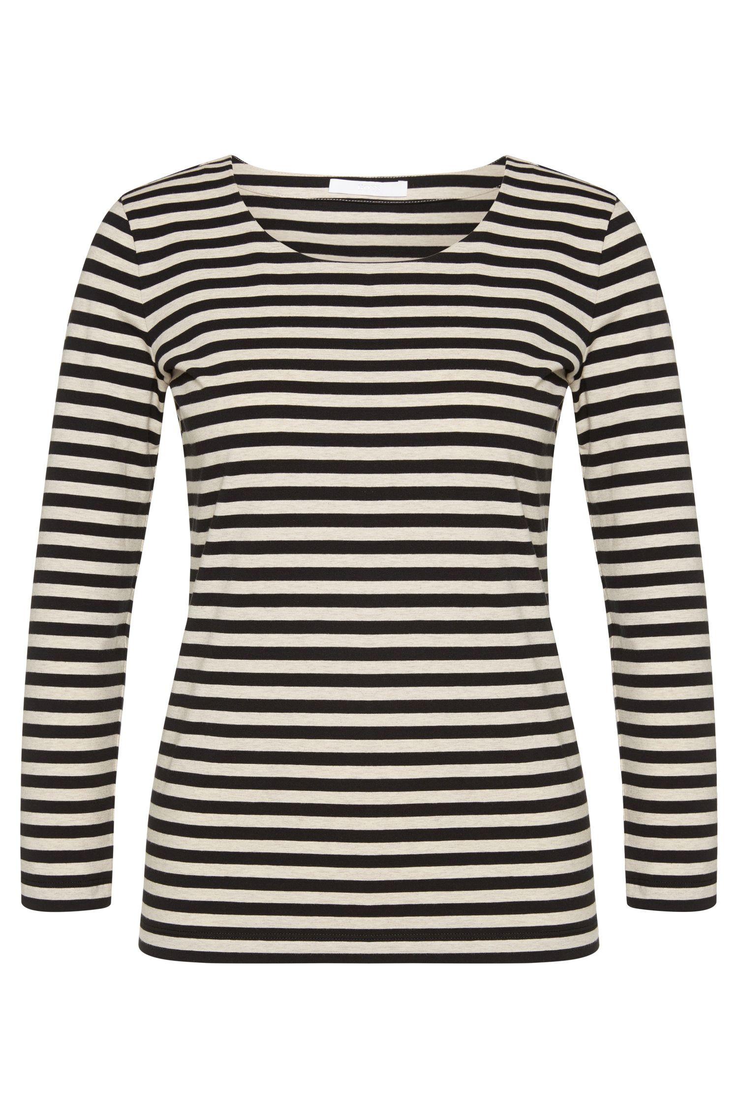 T-shirt Regular Fit en jersey single de coton stretch