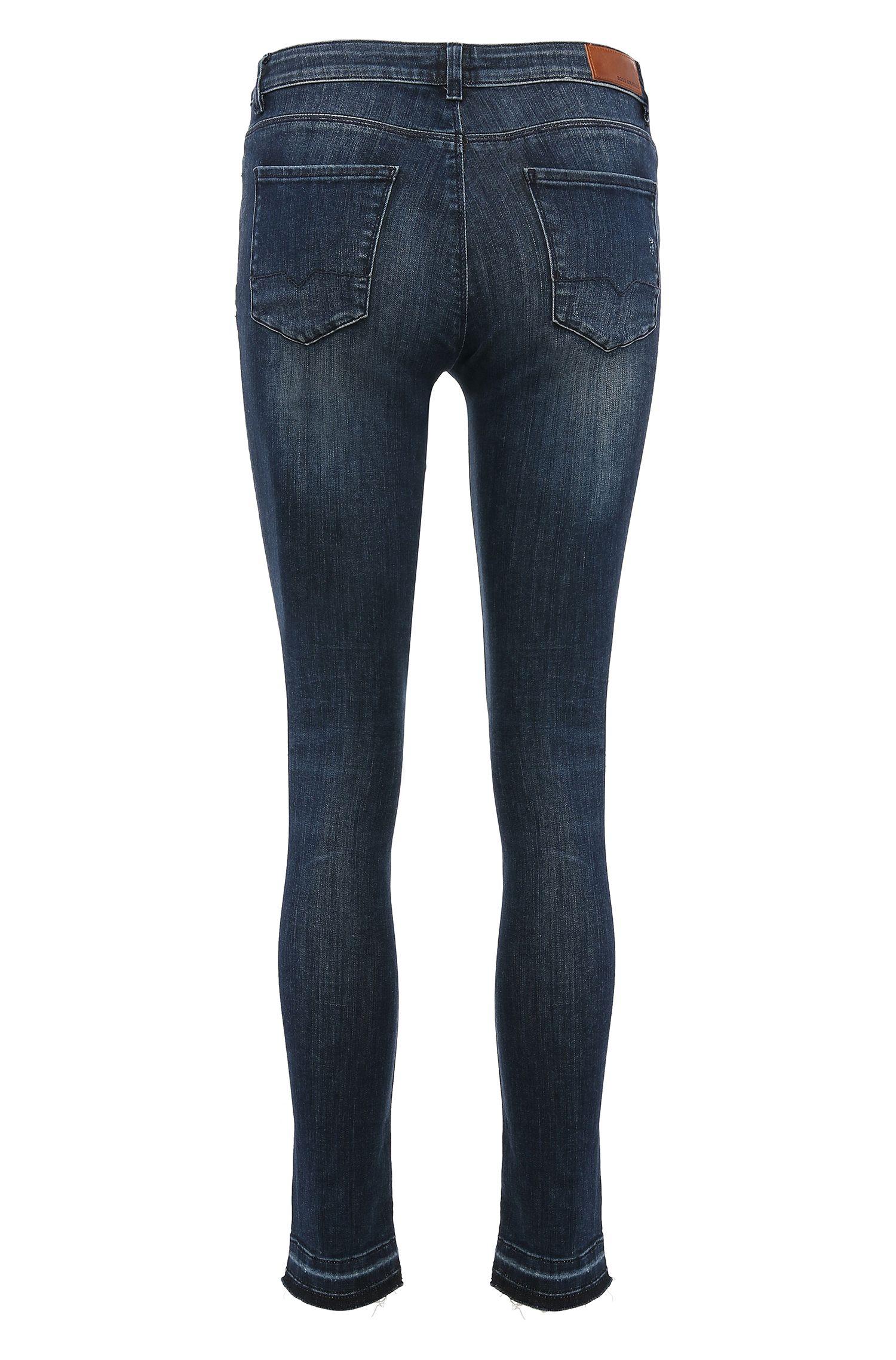 Skinny-fit jeans van een katoenmix: 'Orange J10 Florida'