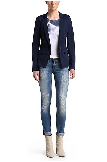 Slim-Fit Jeans aus elastischem Baumwoll-Mix: ´Orange J20`, Blau