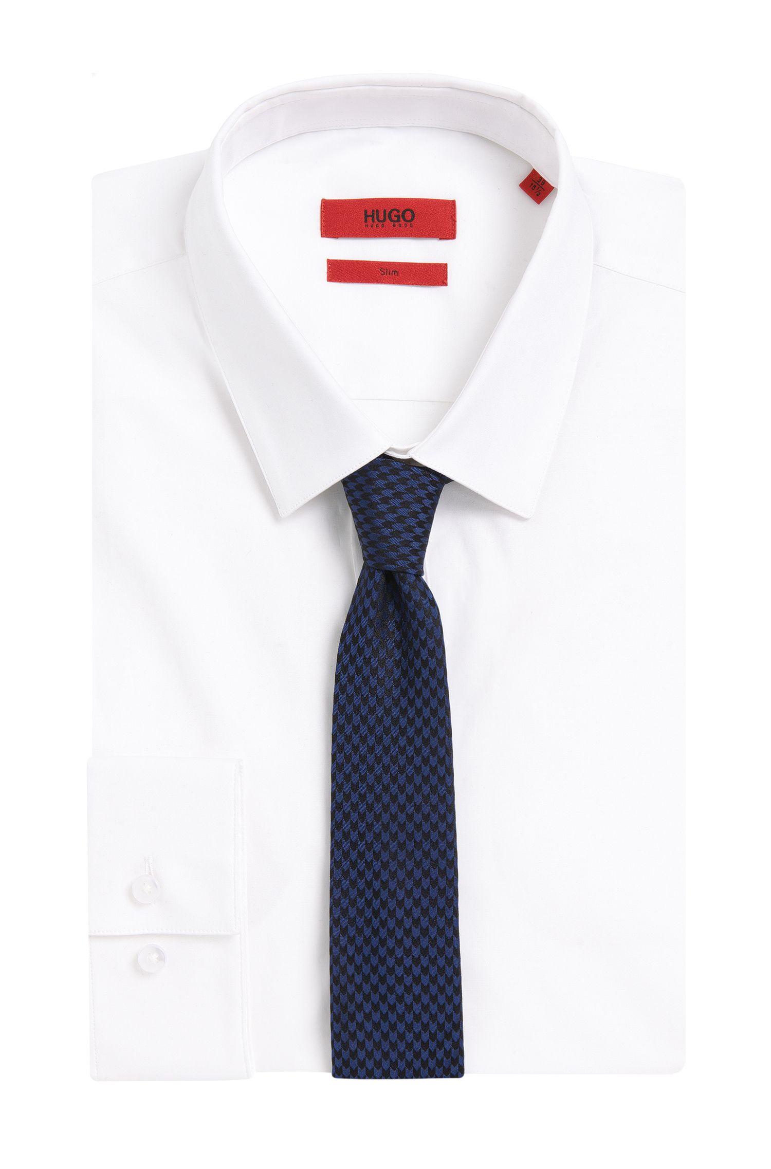 Gemusterte Krawatte aus Seide: 'Tie 6 cm'