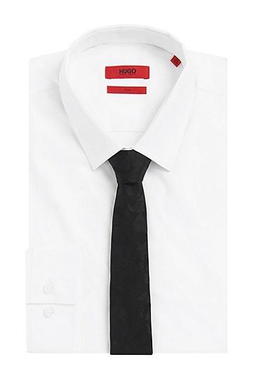 Krawatte von HUGO aus reiner Seide: 'Tie 6 cm', Schwarz