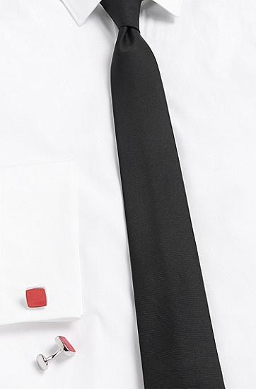 Manschettenknöpfe aus Messing mit Branding: 'E-STAIN', Rot