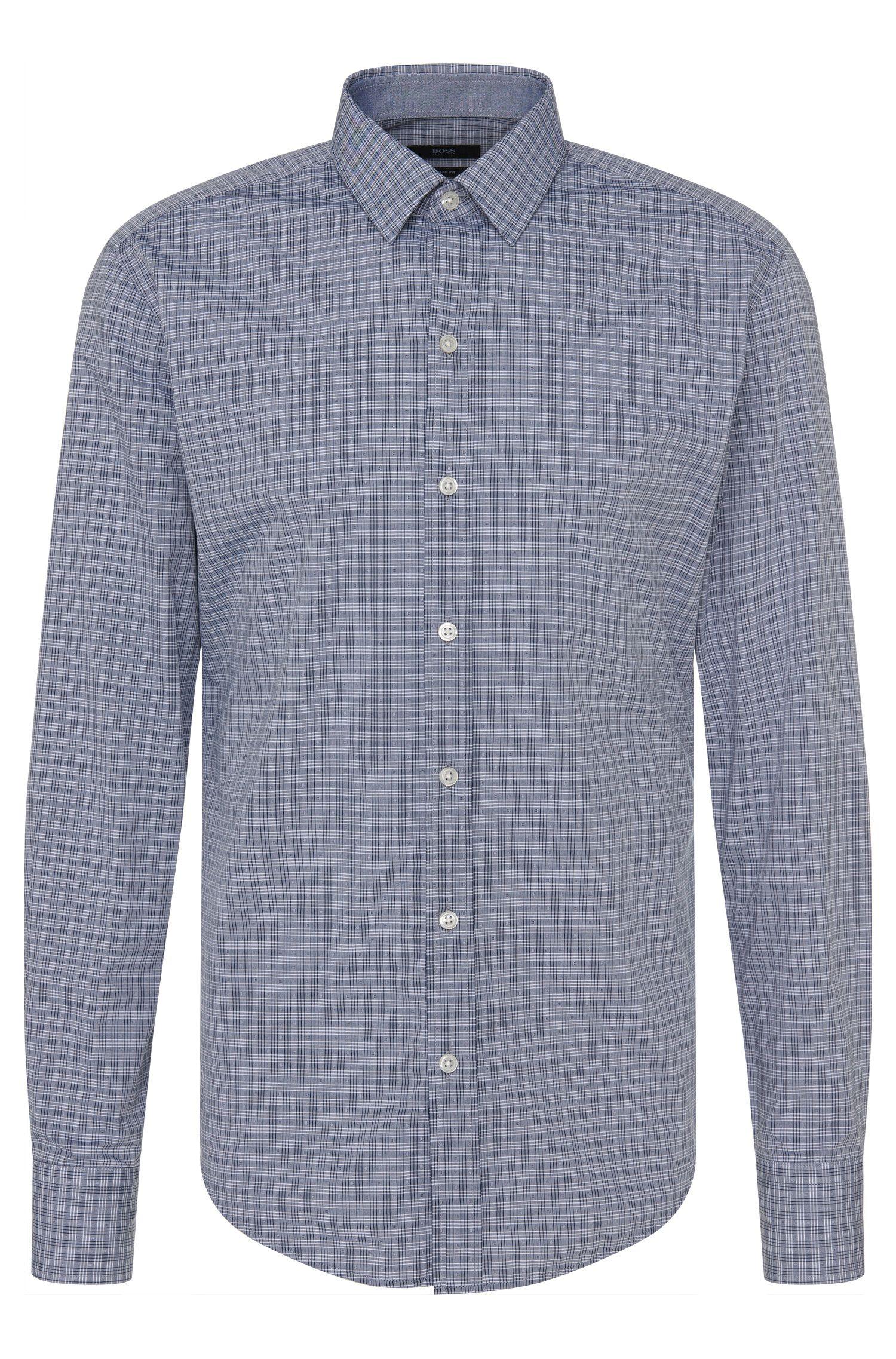 Chemise à carreaux Slim Fit en pur coton: «Robbie_1»