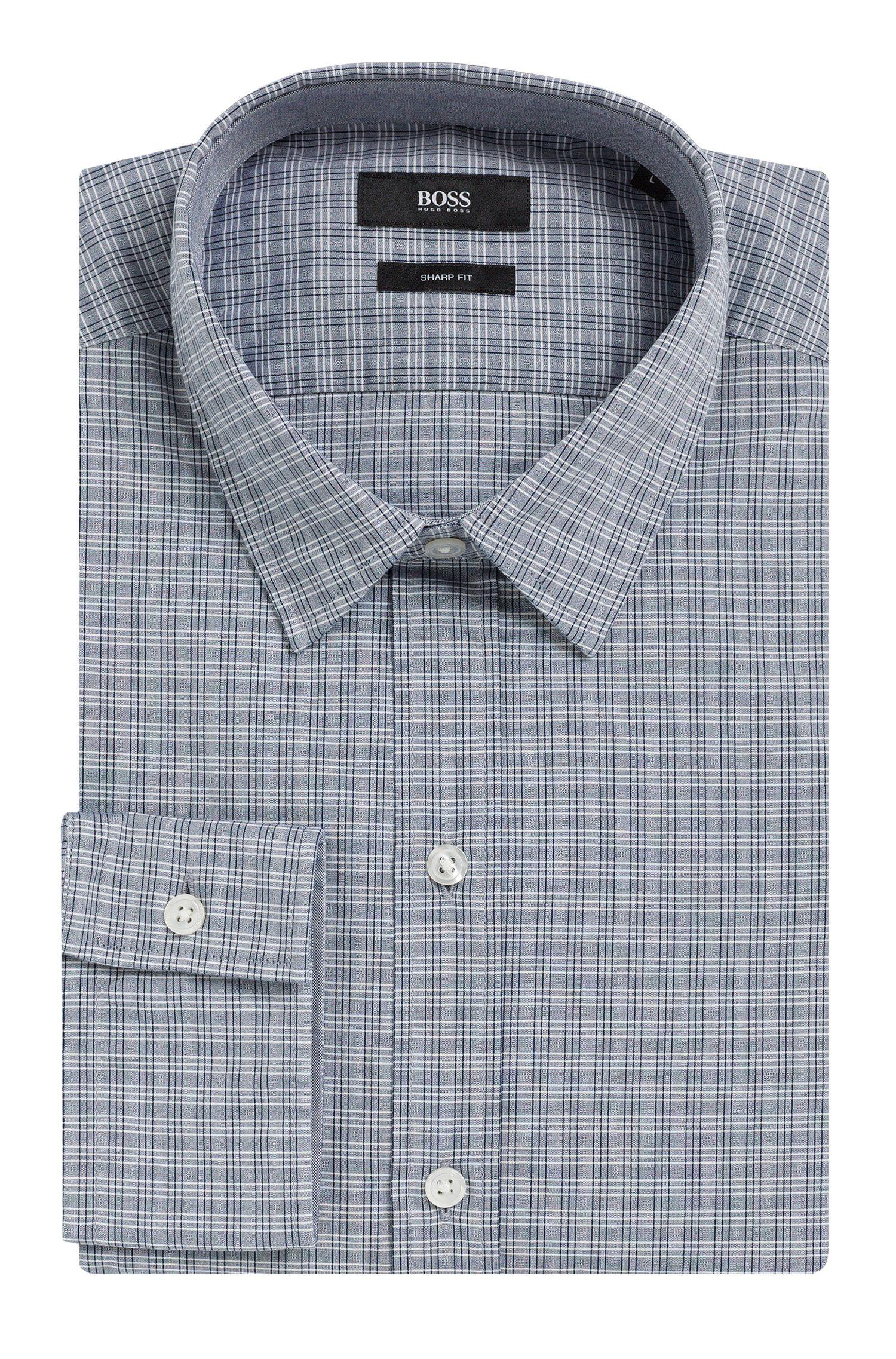 Geruit slim-fit overhemd van zuivere katoen: 'Robbie_1'