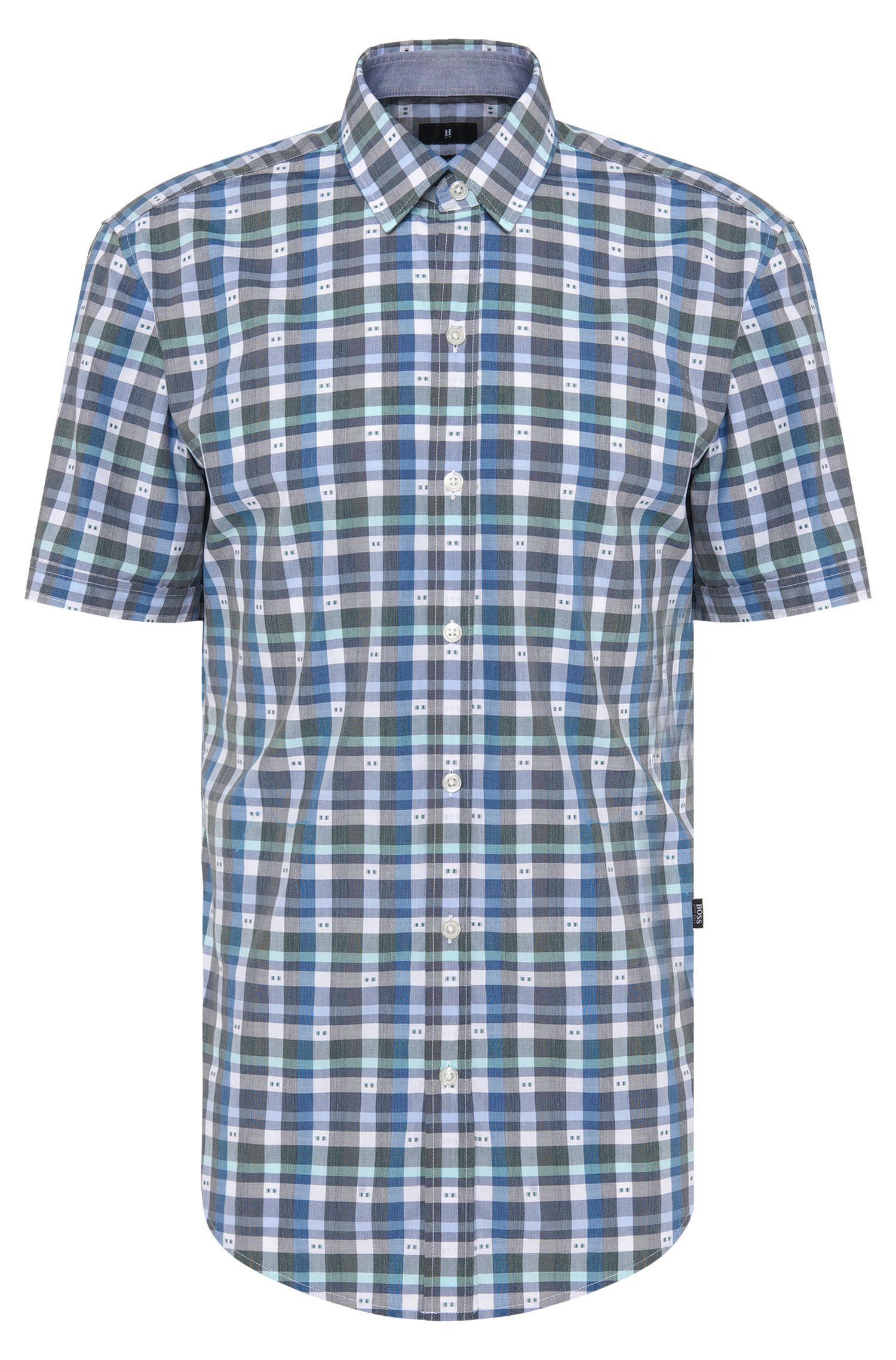 Kariertes Slim-Fit Hemd aus Baumwolle: 'Robb_1'