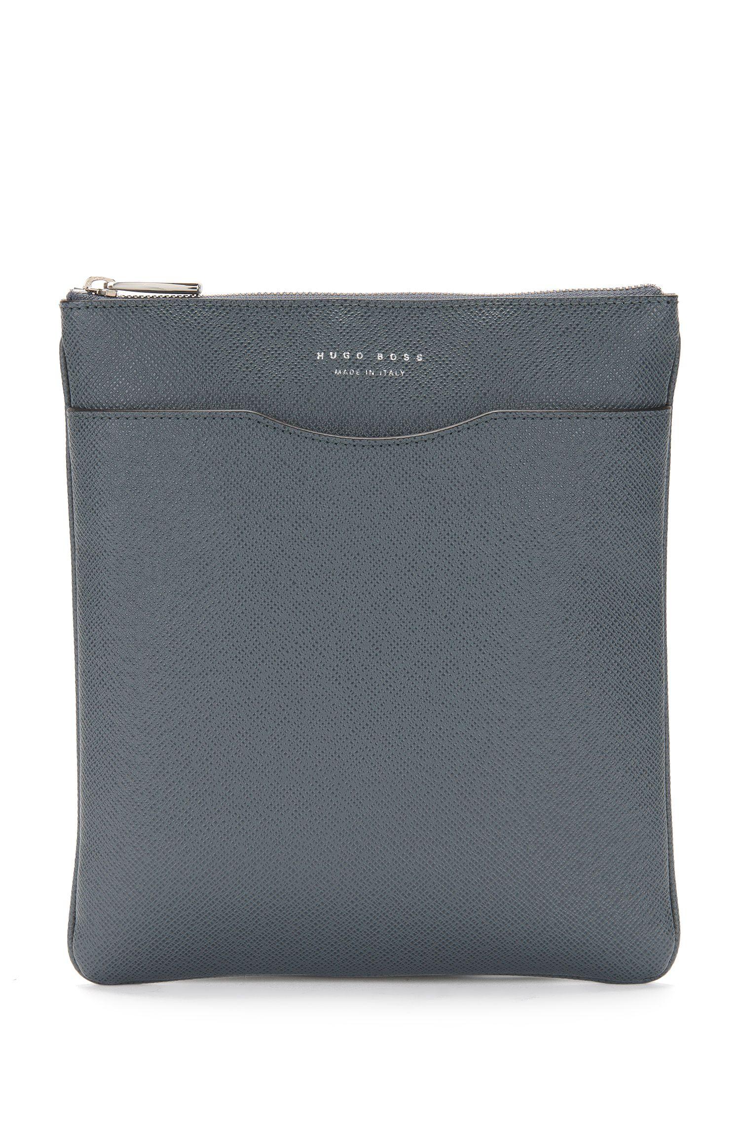 Petit sac en bandoulière en cuir: «Signature_S zip env»
