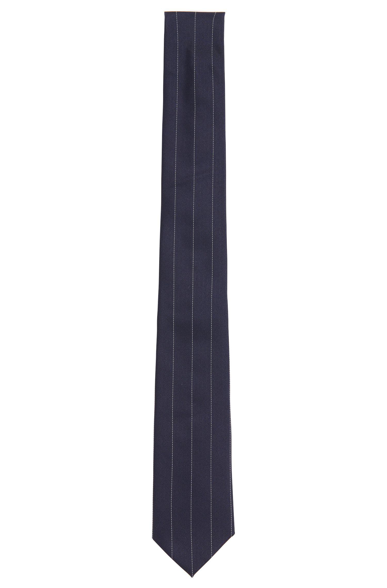 Fijngestreepte stropdas van HUGO van zuivere zijde: 'Tie 6 cm'