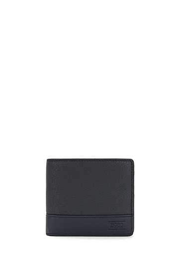 Geldbörse aus Leder mit Logo-Prägung: 'Aspen_8 cc', Dunkelblau