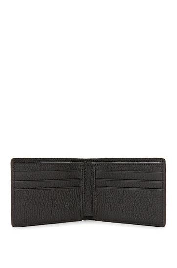 Kleine Geldbörse aus geprägtem Leder: 'Aspen_6 cc', Dunkelbraun