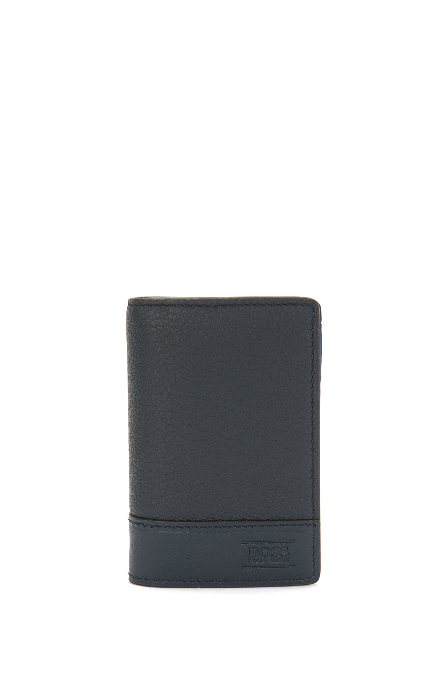 Vertical-format leather card case: 'Aspen_B card'