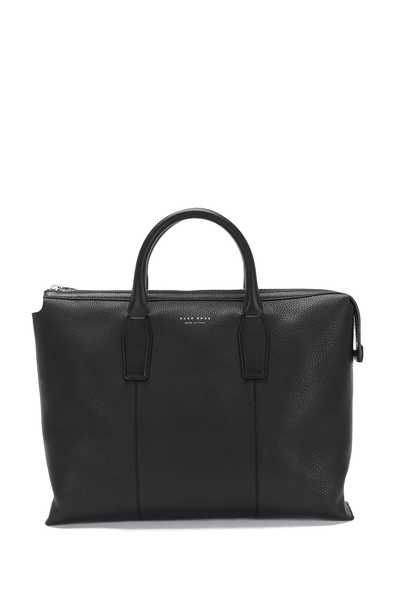Leather bag with rounded carrying handles: 'Elite_S doc'
