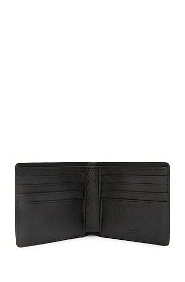 Geldbörse aus geprägtem Leder: 'Elite_8 cc', Schwarz