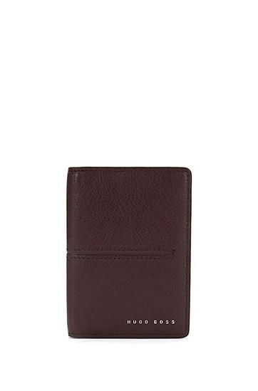 Kartenetui aus Leder mit Streifenprägung: 'Elite_B card', Dunkelrot