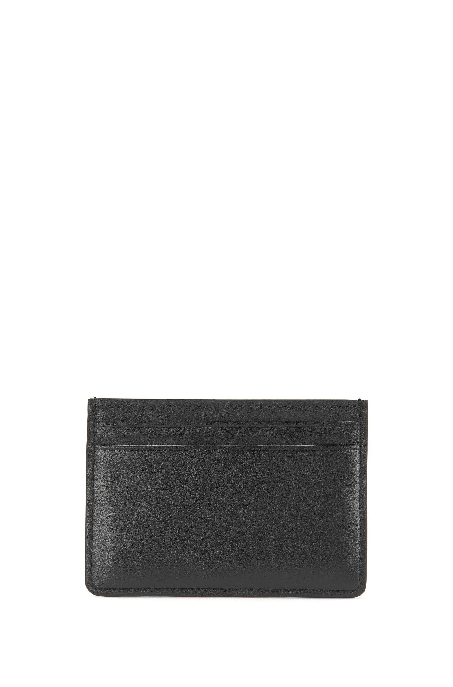 Set mit Geldbörse und Kartenetui aus geprägtem Leder: 'GbB16PF_8 cc S card'