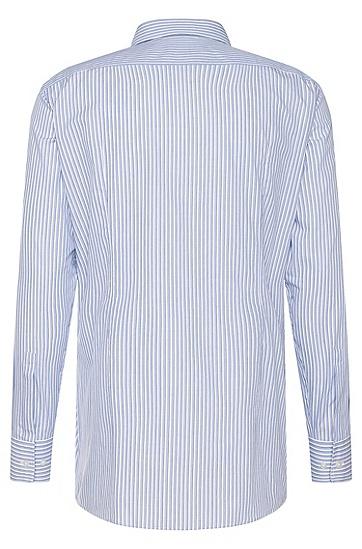 Gestreiftes Slim-Fit Hemd aus Baumwolle: 'Marley US', Blau
