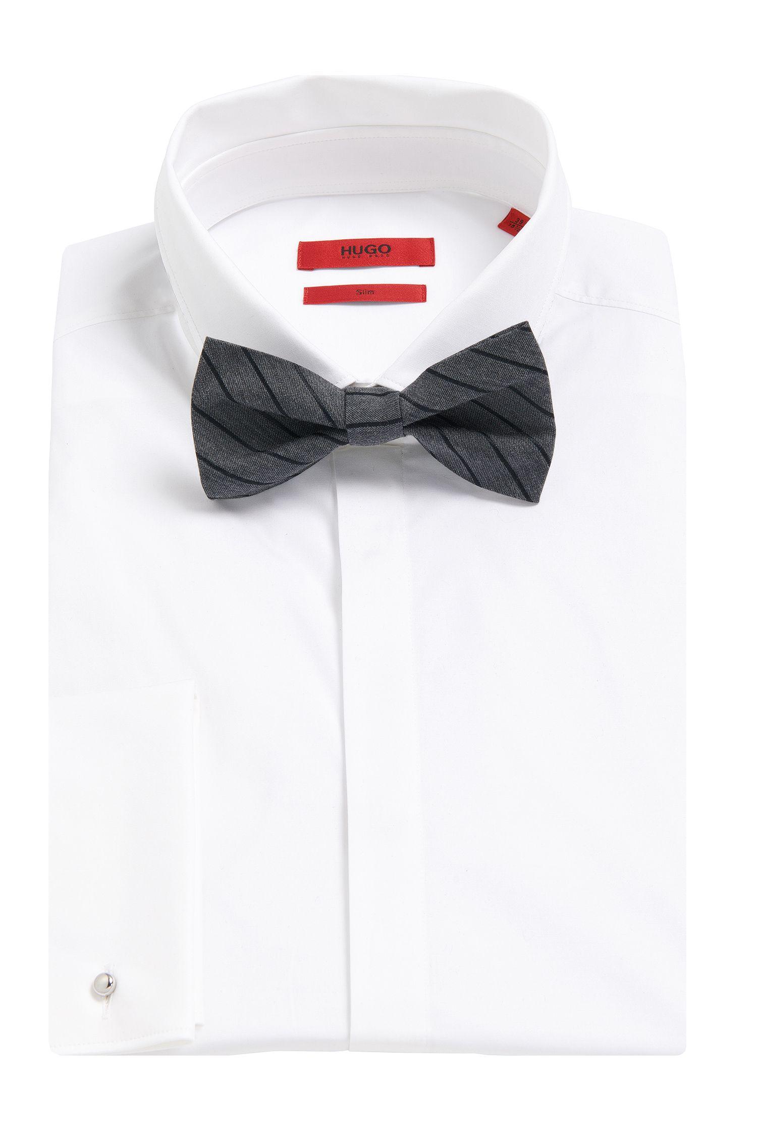 Gestreifte Fliege aus Baumwoll-Mix: 'Big bow tie'