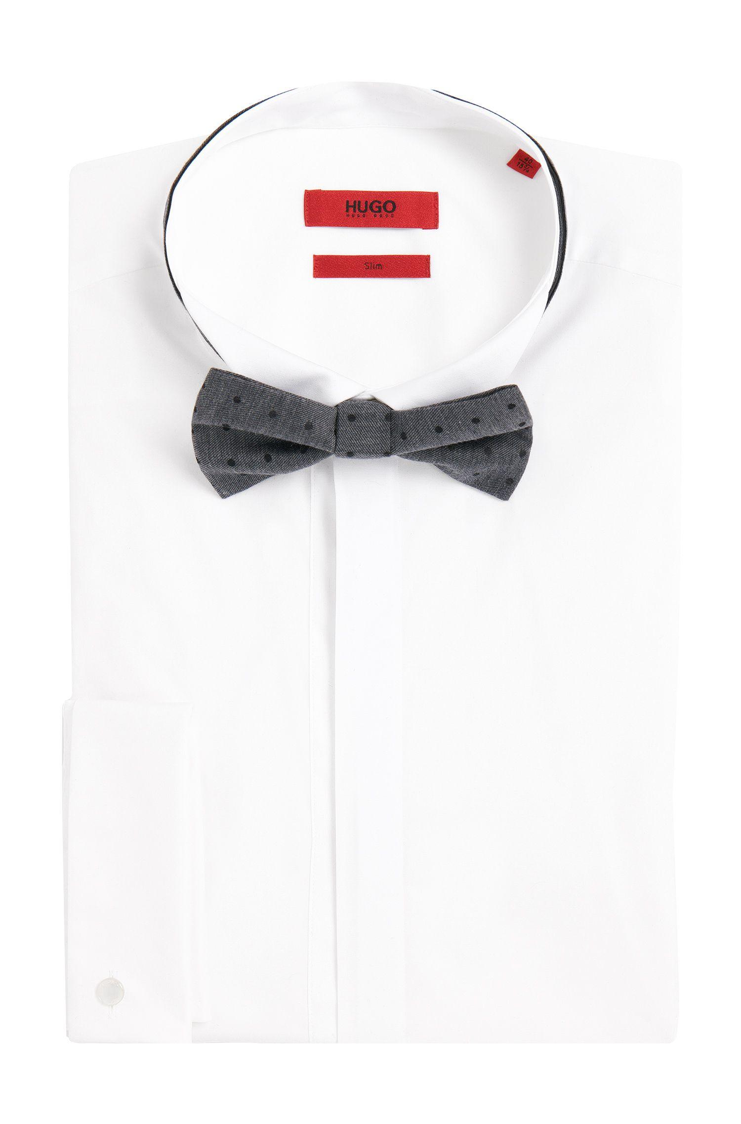 Gepunktete Fliege aus Baumwoll-Mix mit Seide: 'Big bow tie'