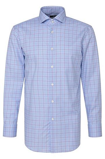 Kariertes Slim-Fit Hemd aus Baumwolle: 'Mark US', Pink