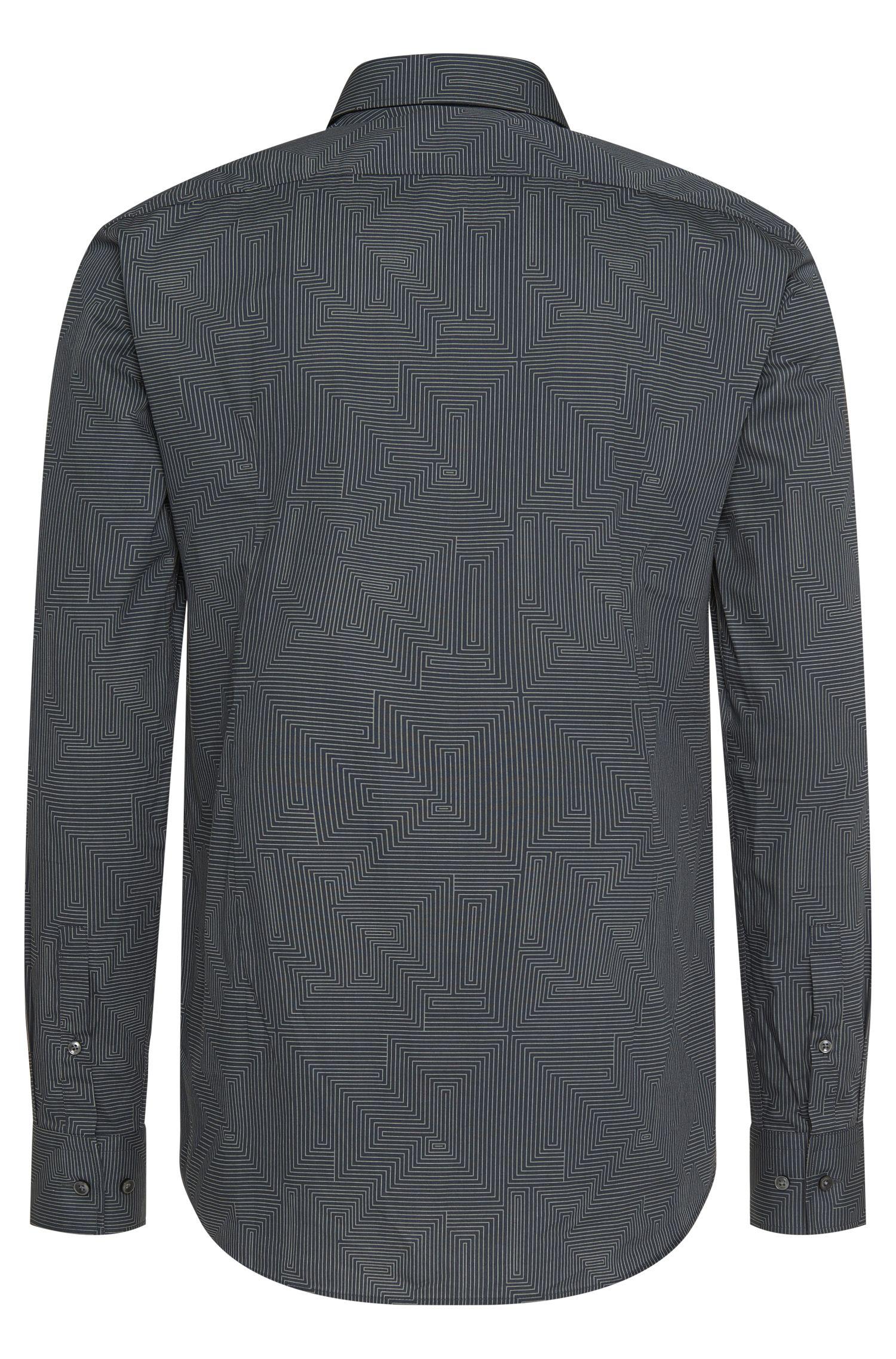 Slim-fit overhemd van zuivere katoen: 'Jenno'