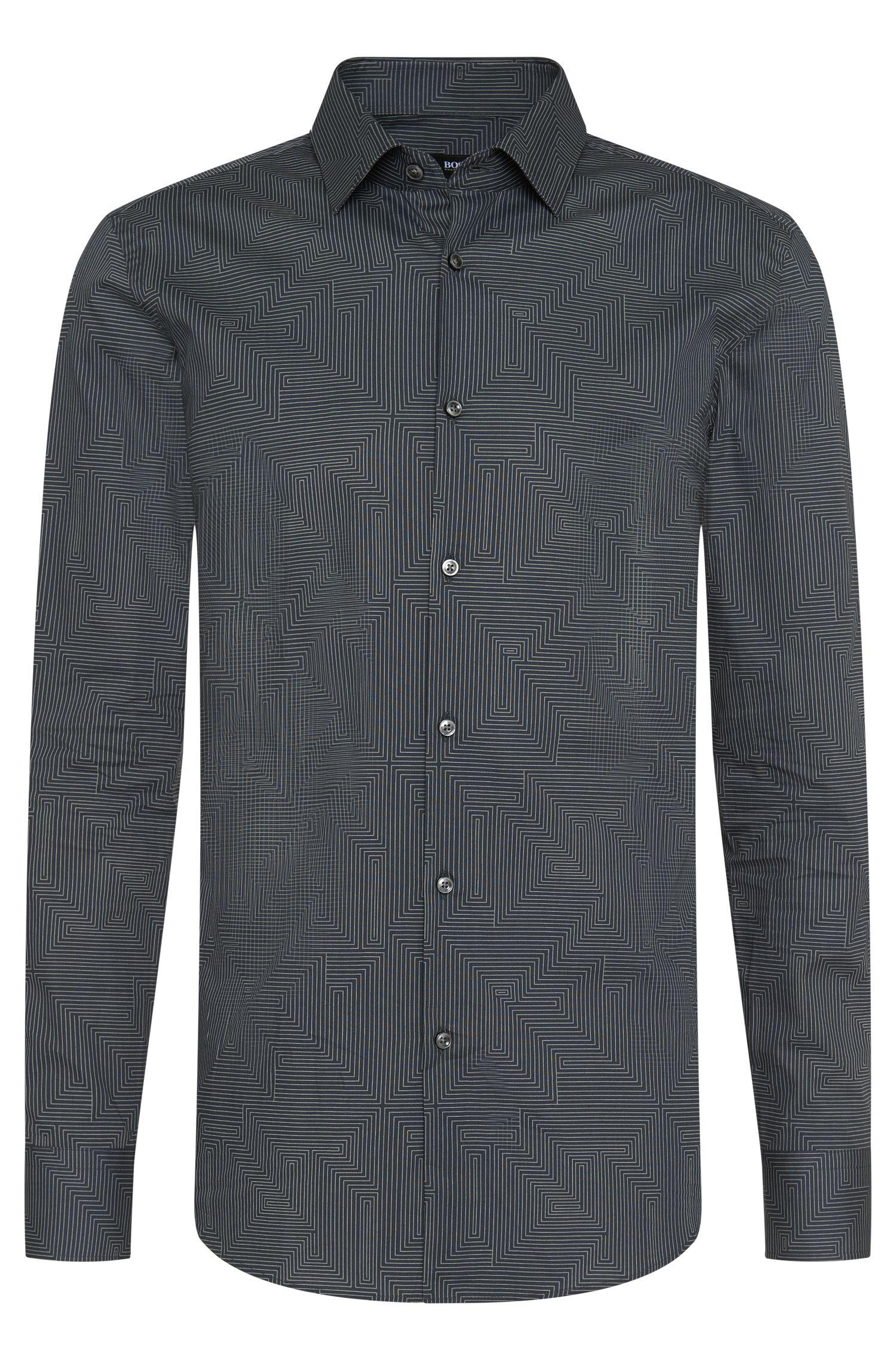 Slim-Fit Hemd aus reiner Baumwolle: 'Jenno'