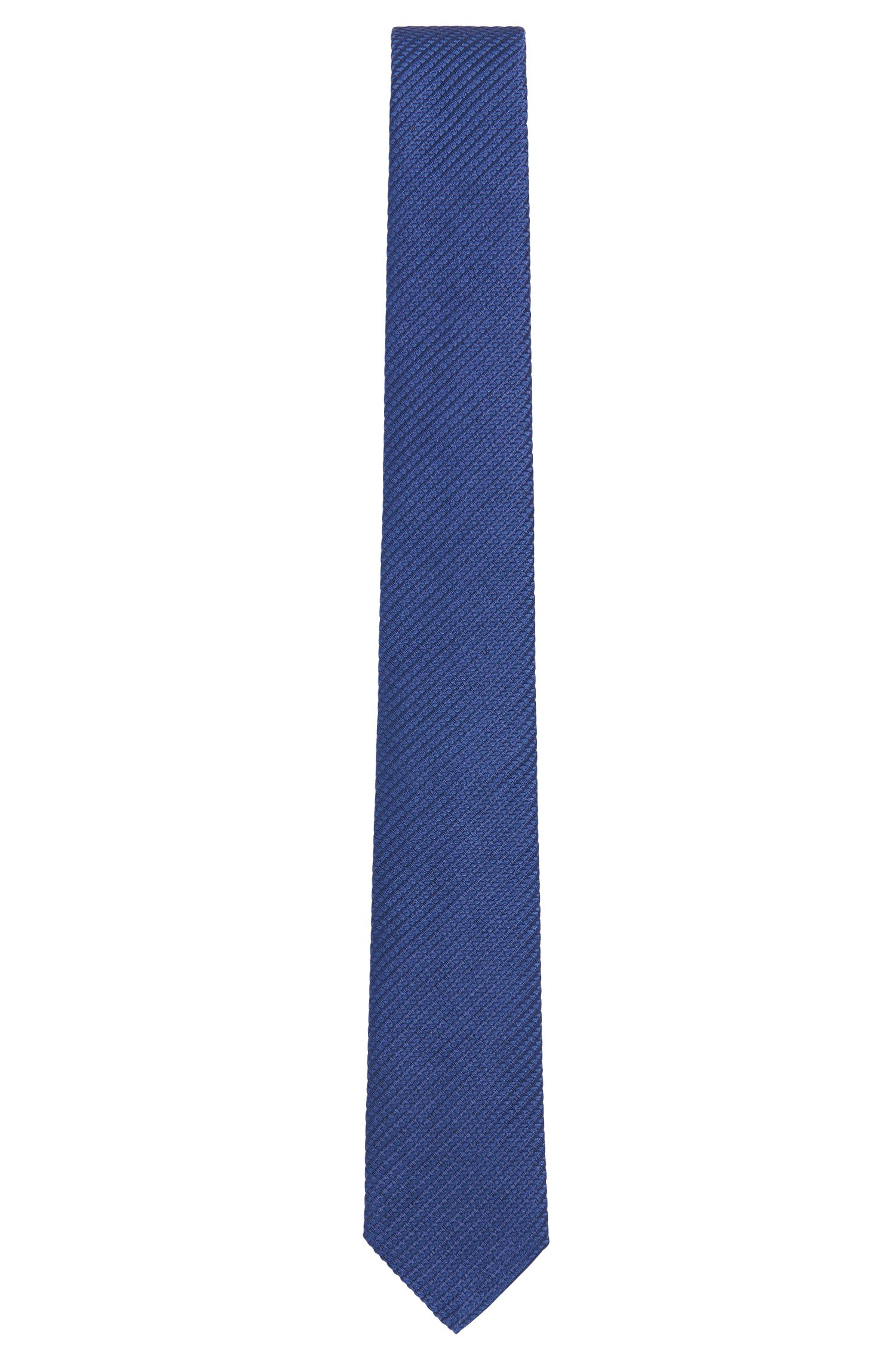 Solid-coloured silk tie: 'Tie 6 cm'