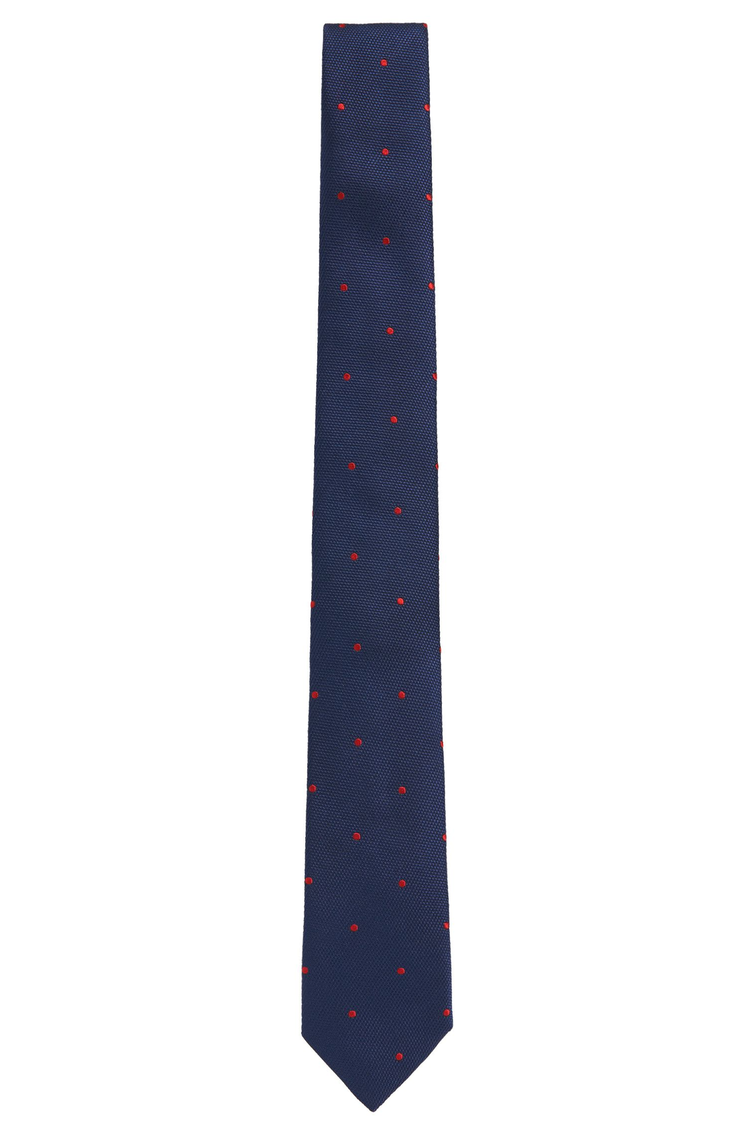 Polka-dot-pattern pure silk tie: 'Tie 6 cm'
