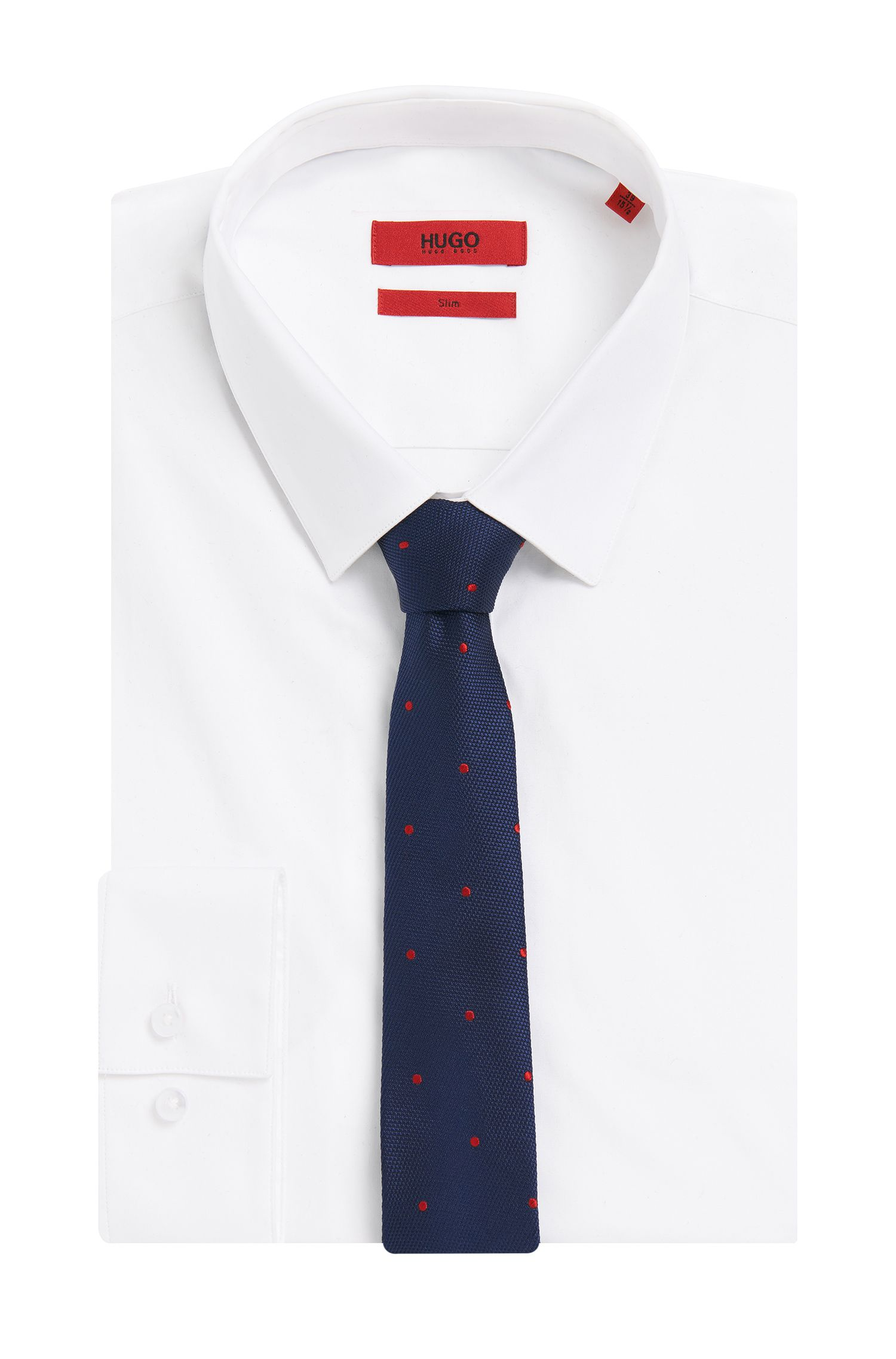 Gepunktete Krawatte aus Seide: 'Tie 6 cm'