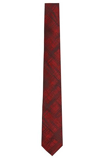 Seidenkrawatte mit Schraffur-Muster: 'Tie 6 cm', Rot
