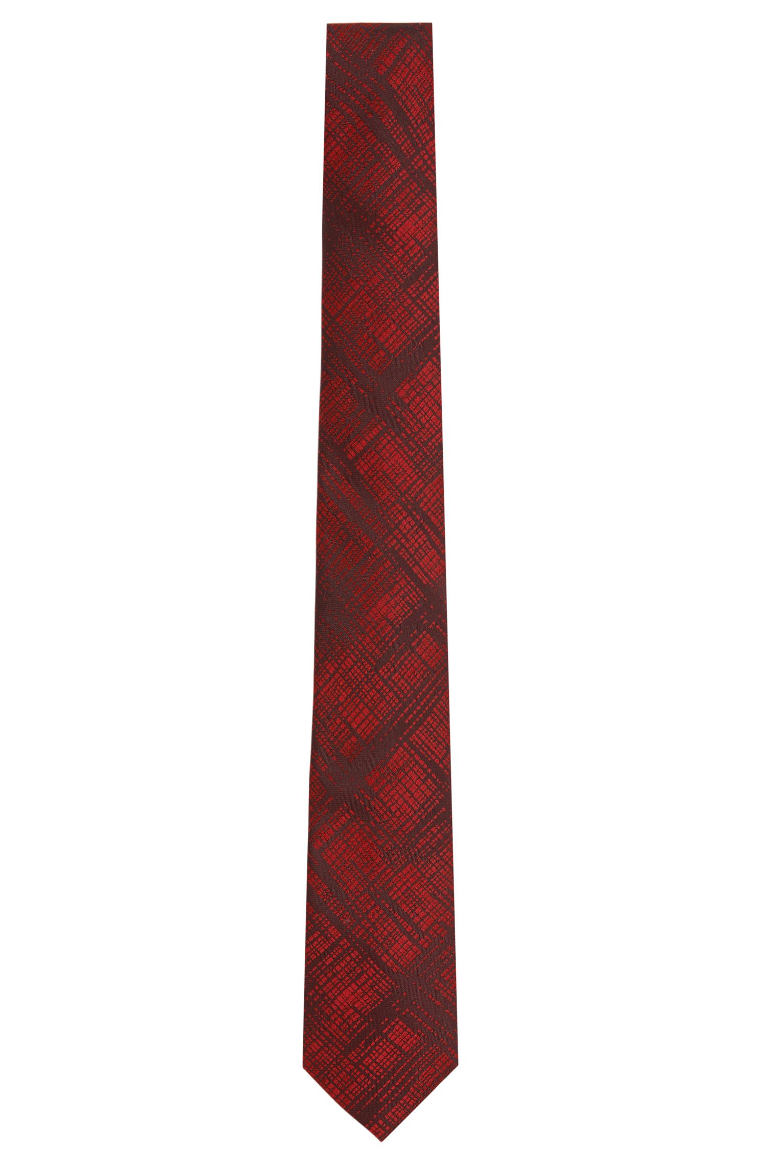 Silk tie with hatched pattern: 'Tie 6 cm'