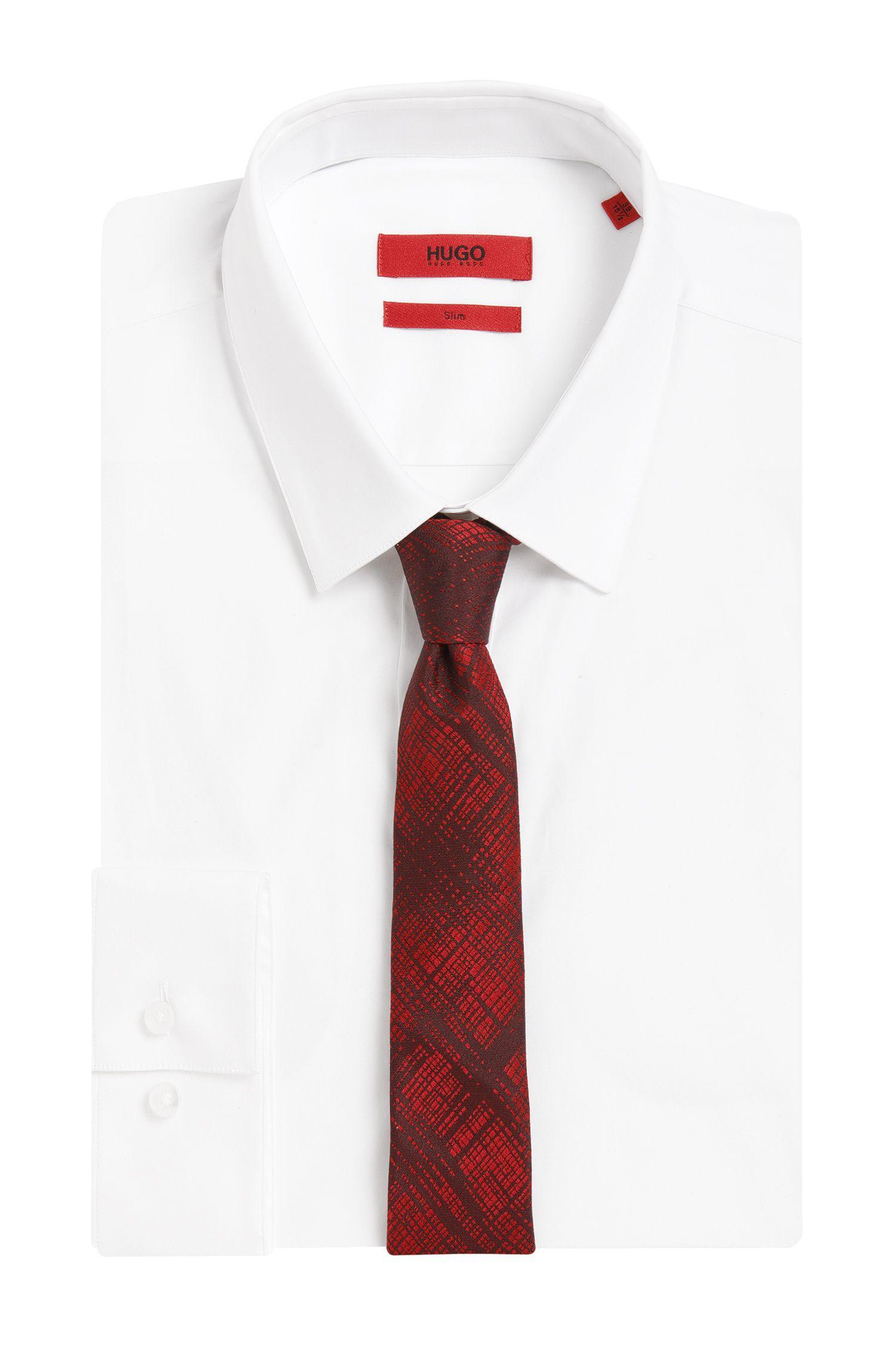 Cravate en soie à motif hachuré: «Tie6cm»