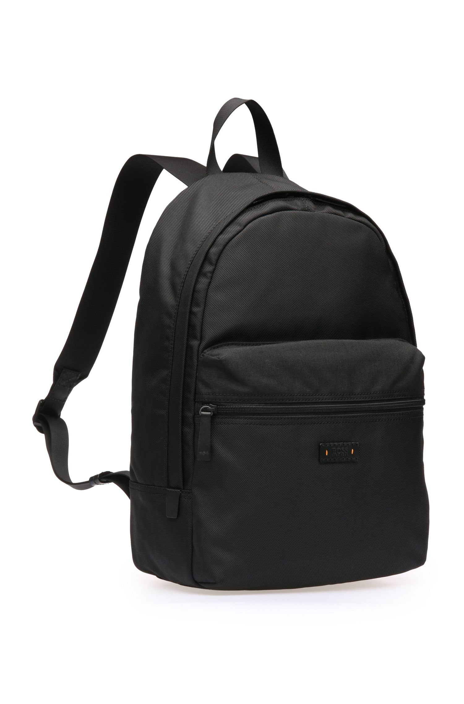 Strukturierter Rucksack aus Material-Mix: ´Saturn_Backpack`