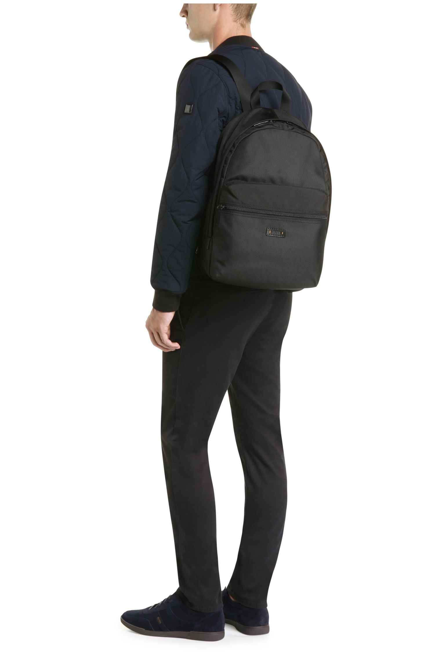 Strukturierter Rucksack aus Material-Mix: ´Saturn_Backpack`