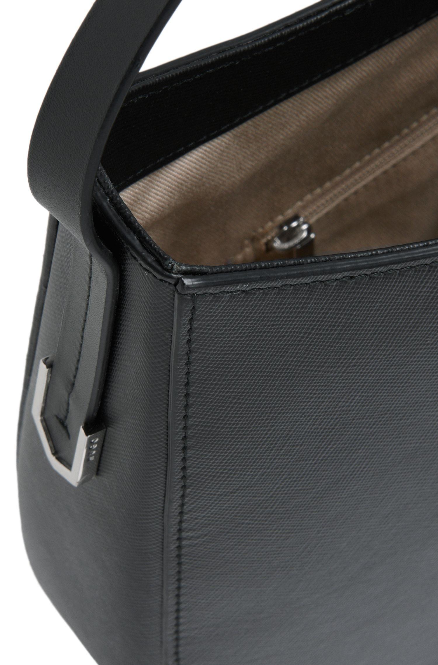 Hobo-Bag aus Leder mit Saffiano-Prägung: 'Noble'