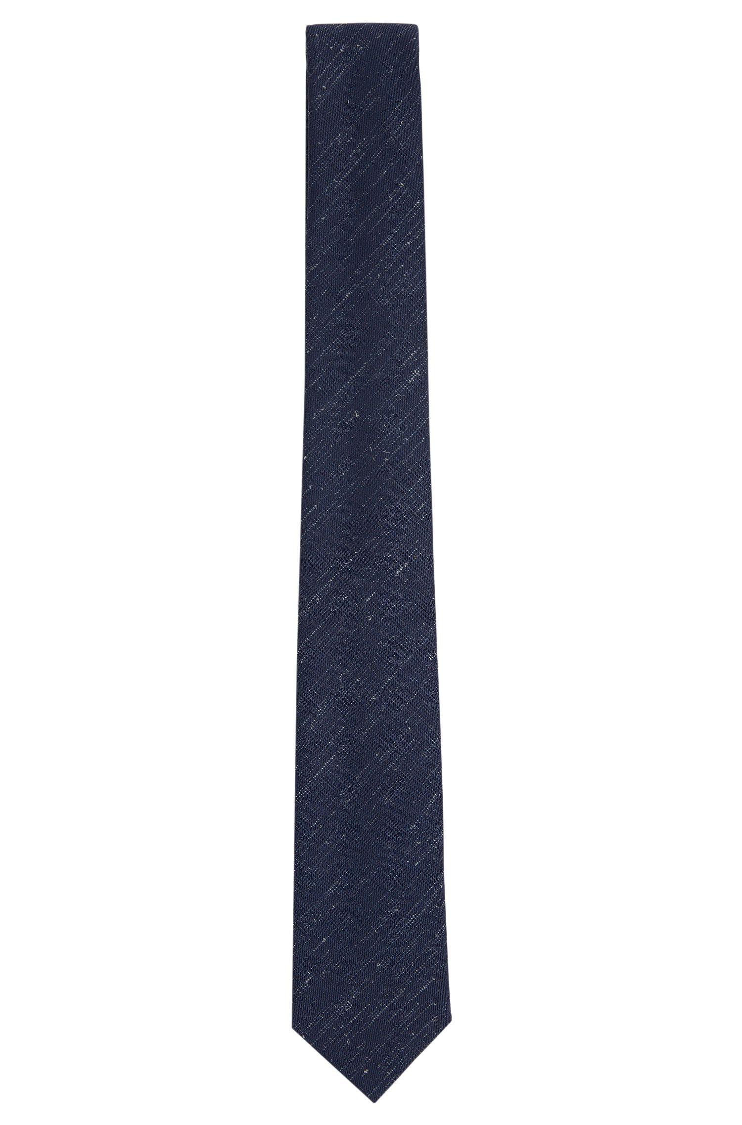 Fein gemusterte Krawatte aus Wolle: 'Tie 6 cm self-tipped'