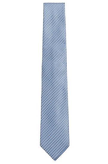 Gemusterte Seidenkrawatte: 'Tie 7,5 cm', Hellgrün
