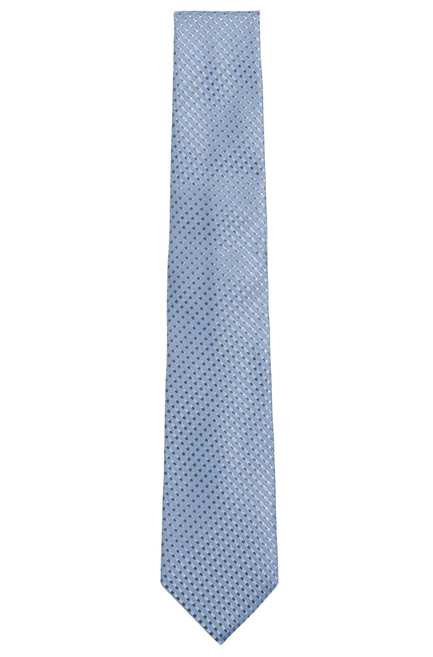 Zijden stropdas met dessin: 'Tie 7,5 cm'