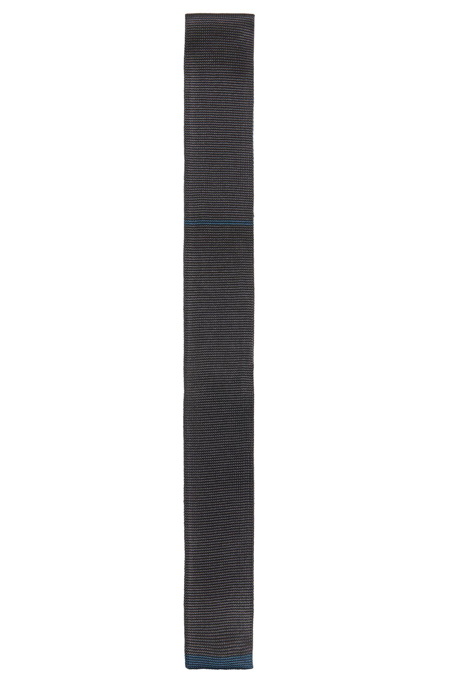 Gebreide stropdas van zijde: 'Tie 5 cm knitted'