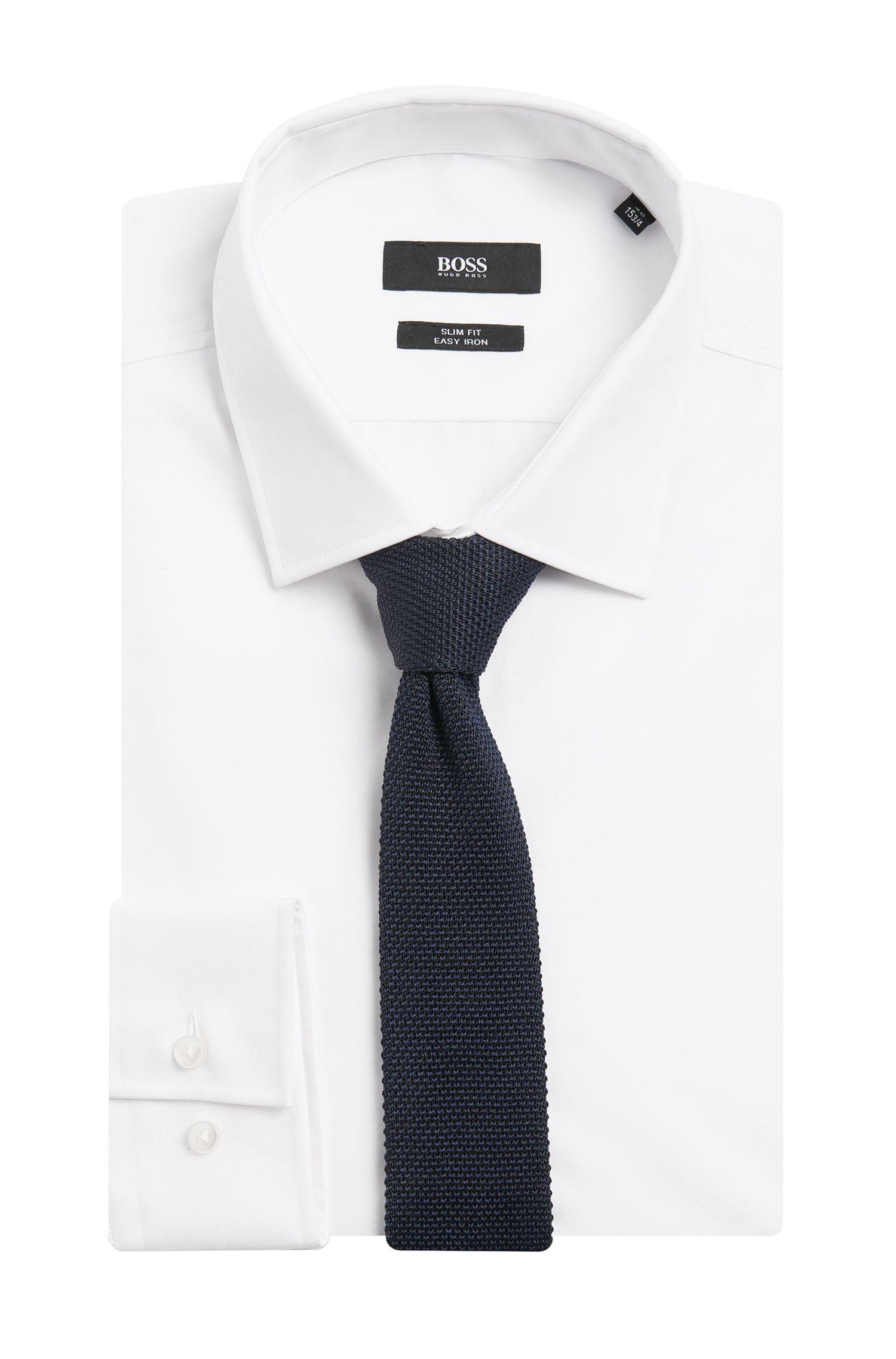 Gestrickte Krawatte aus Seiden-Mix: 'T-Tie 5 cm knitted'
