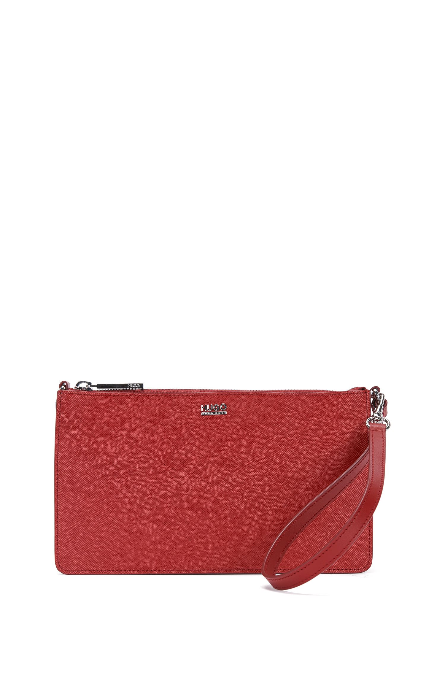 Solid-coloured handbag in leather: 'Nycla-S'