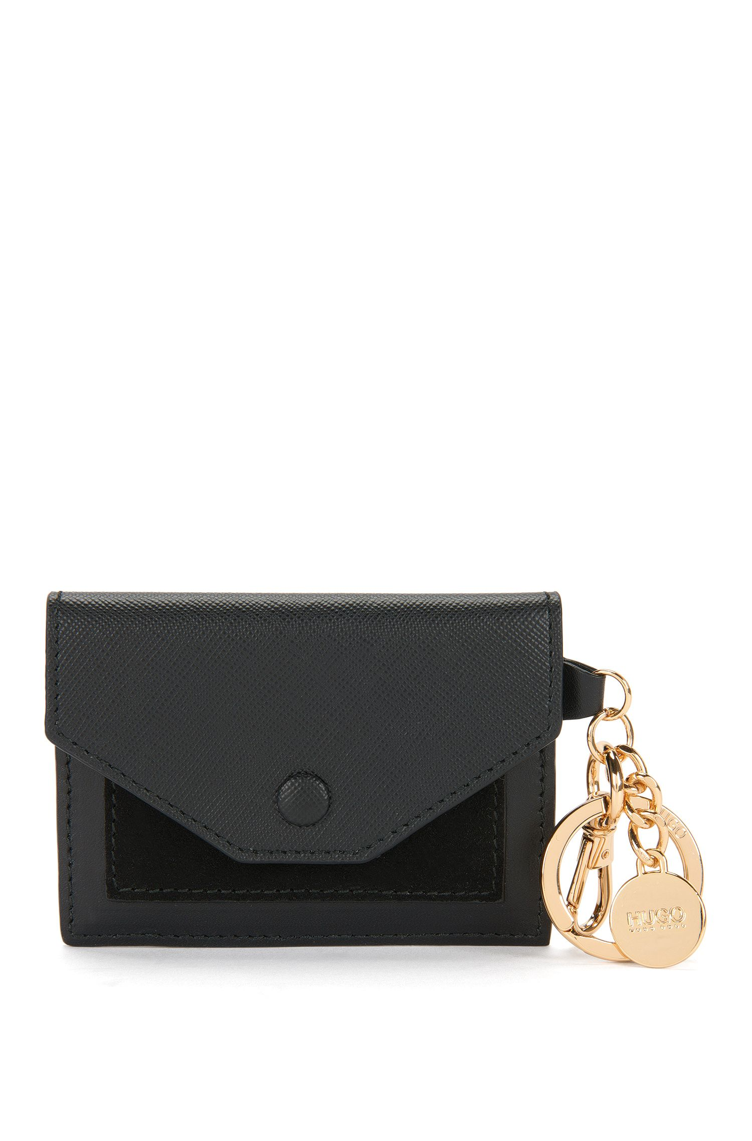 Key ring with card case in leather: 'Byron'