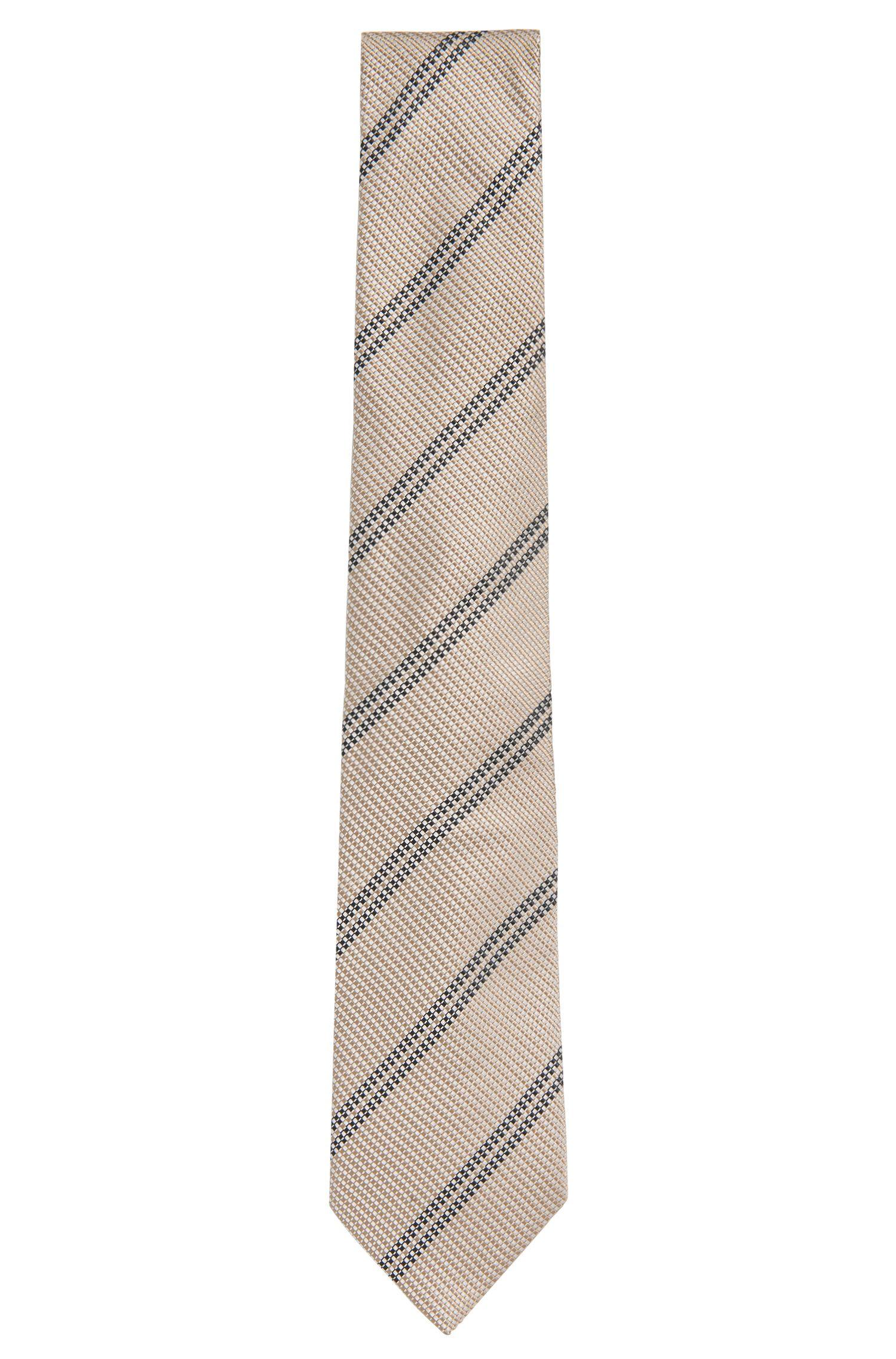 Gemusterte Krawatte aus Seide: 'T-Tie 7,5 cm'