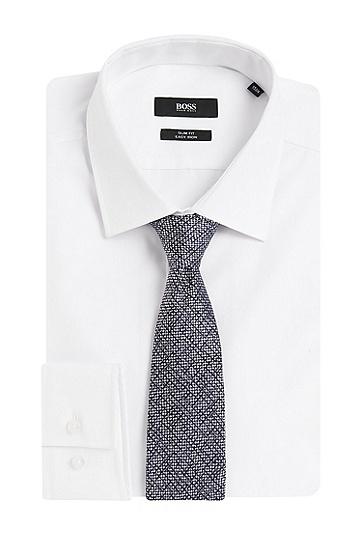 Gemusterte Krawatte aus Seide: 'T-Tie 7,5 cm', Dunkelblau