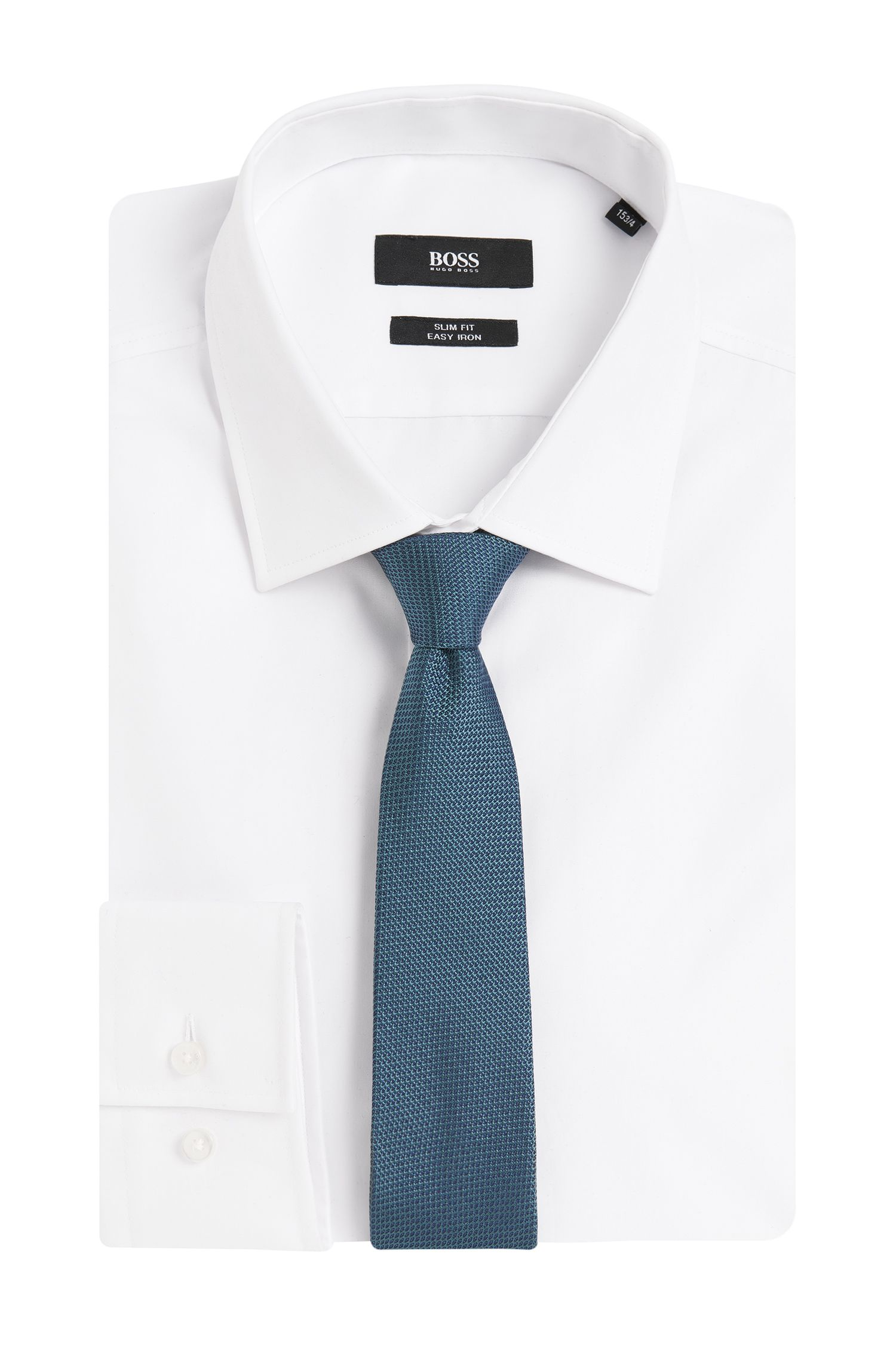 Cravate en pure soie finement structurée: «T-Tie6cm»