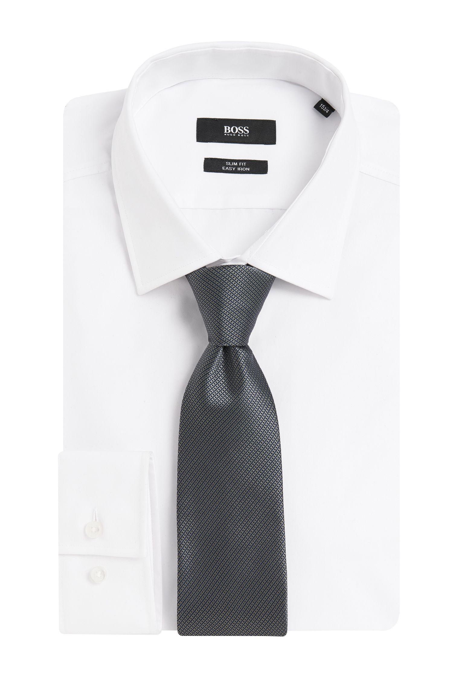 Cravate en pure soie à motif: «T-Tie 7.5cm»